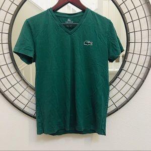 Lacoste V-neck green t-shirt size 3